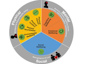 Prowell Model showing the  dimensions of Workplace Wellbeing