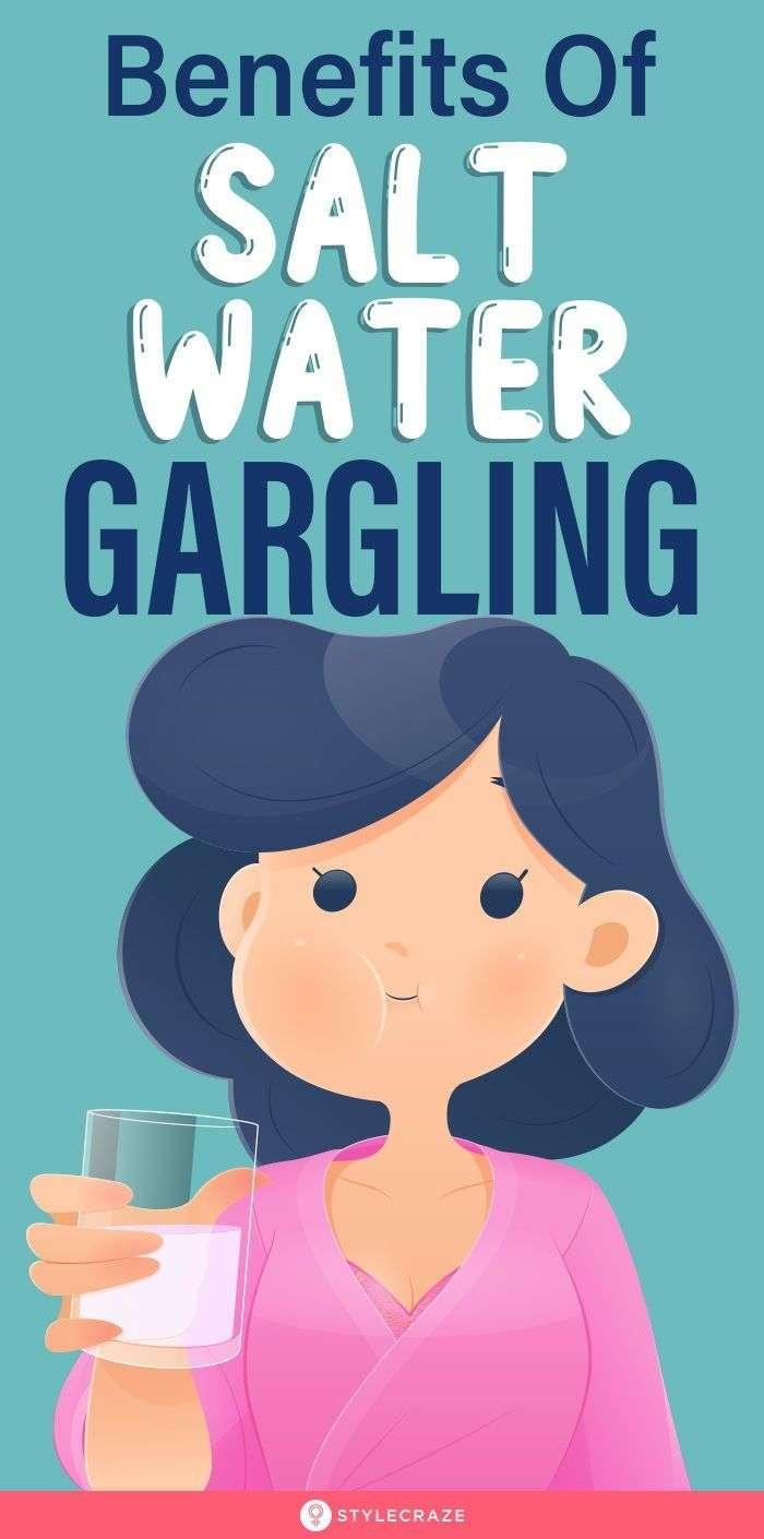 Benefits of gargling salt water