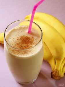 Boost very high calorie shake with banana
