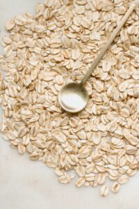 Oats contain fiber that is good for liver health.