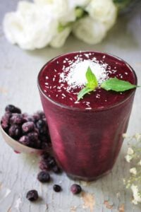 Blueberry-Coconut Smoothie
