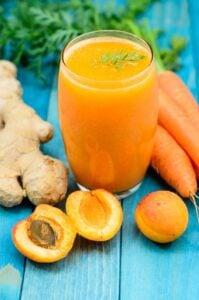 Carrot meal replacement smoothies