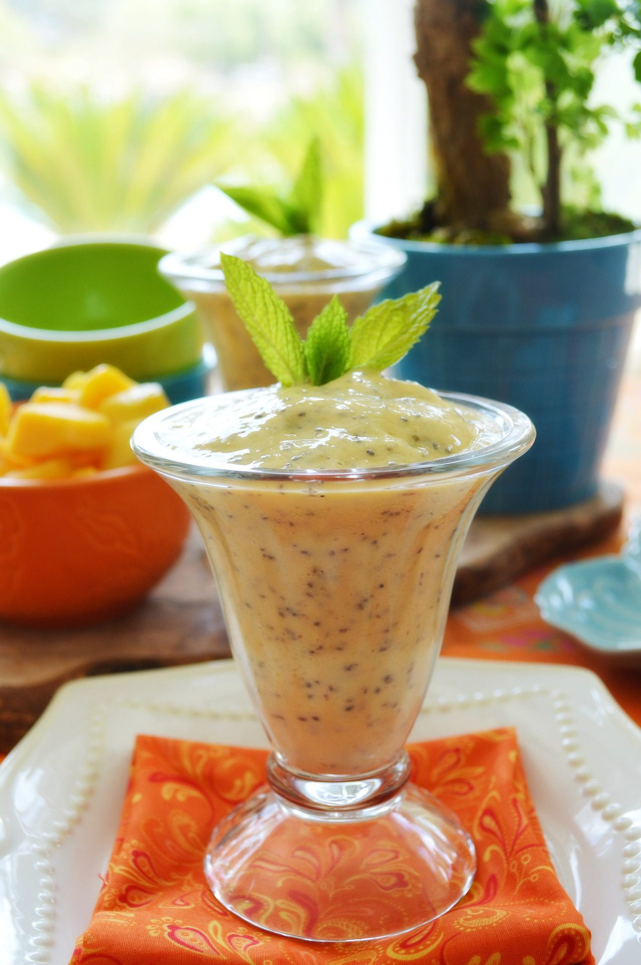 Mango and Chia Seed Smoothie