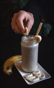 bananaberry and protein smoothie