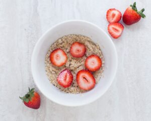 Oatmeal and your favorite fruit toppings