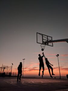 What are some of the physical benefits of playing basketball