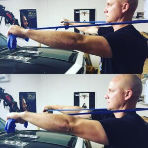 chest press .chest exercises with bands