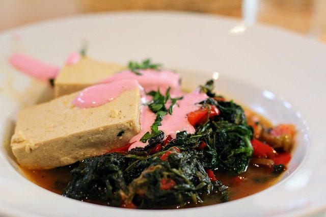 tofu and spinach
