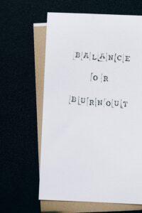 caregiver balance