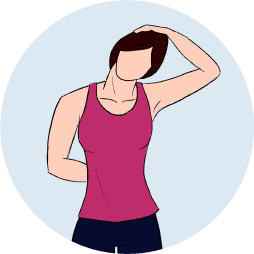 stretching exercises for seniors- neck side stretch