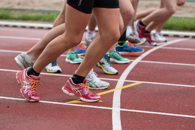 running heel pain